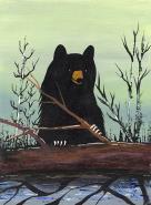 Bear with Log by Francis Esquega Lake Superior Store