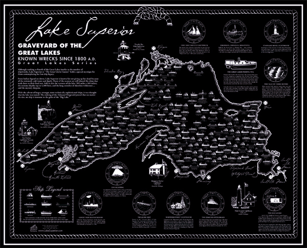 Lake Superior Shipwreck Maps