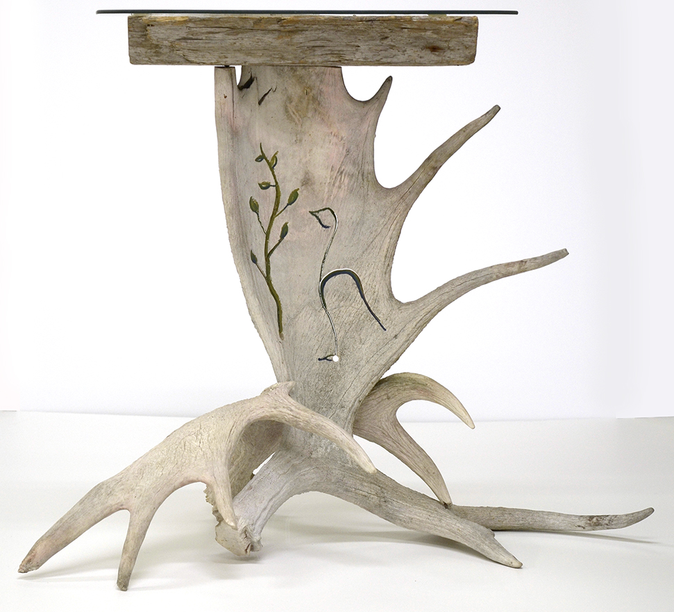 Moose antler table by Black and Tan Taxidermy
